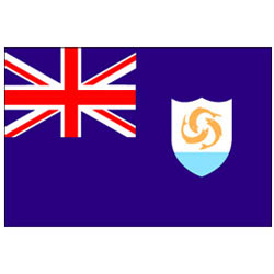 Taylor Made Anguilla International Flag 12'' X 18'', Marine Foreign Courtesy Flags