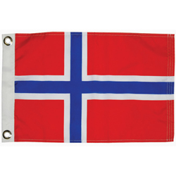Taylor Made Norway Courtesy Flag 12'' X 18'', Marine Foreign Courtesy Flags