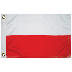 Taylor Made Poland Courtesy Flag 12'' X 18'', Marine Foreign Courtesy Flags