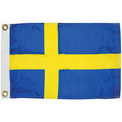 Taylor Made Sweden Courtesy Flag 12'' X 18'', Marine Foreign Courtesy Flags
