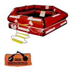Revere Supply Shoremaster Iba Life Raft 6 Person Valise, Life Rafts for Boats & Yachts