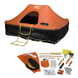Revere Supply Coastal Commander Life Raft 6 Person Canister, Life Rafts for Boats & Yachts