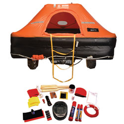Revere Supply Offshore Commander Life Raft 6 Person Valise, Life Rafts for Boats & Yachts