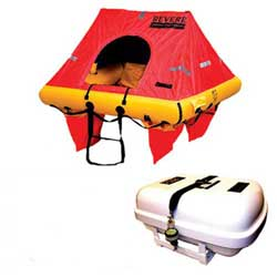 Revere Supply Coastal Elite Plus Life Raft 8 Person With Container, Life Rafts for Boats & Yachts