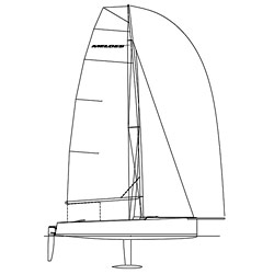 West Marine Melges 20 Custom Rigging Mainsheet Bridle 2' 11'' Loa New England Ropes' V 12 Red (3/16'') Becket Eye Spliced Each End (pre Stretched), One-Design Running Rigging for Boats & Yachts