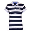 Henri Lloyd Women's Kiana Short Sleeve Polo White/navy 2xl, Women's Boating Knit Short-Sleeve Shirts