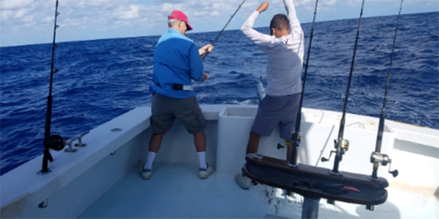 Fishing with Captain Sig at West Marine Miami