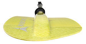 Dihedral ridge paddle blade example