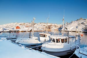 Harbor during winter