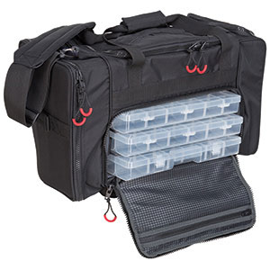 Soft tackle bag with tackle trays