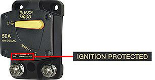 Ignition protected breaker