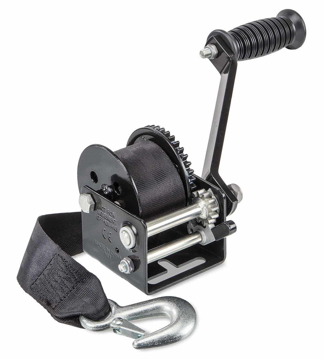 Selecting A Trailer Winch West Marine Venture Wiring Diagram Two Speed Manual With Strap