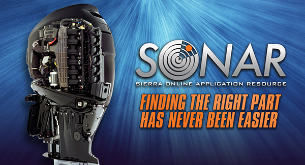 Ad for the SONAR online engine parts selector