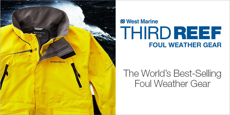 Third reef west marine for Foul weather fishing gear